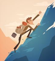 Spatříte-li někoho stát na vrcholku hory, můžete si být jisti, že z nebe tam nespadl. Musel překonat mnoho překážek, aby se tam dostal.