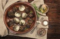 Escargots par 6 ou 12, gratin d'aubergine maison, lasagne maison